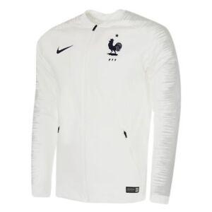 New Nike France 2018 Anthem Jacket World Cup Training Sz M White-Blue 893590-102