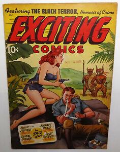 Exciting Comics #65 1949; 6.5 Better Pub.; Hot iss; Black Terror, Judy of Jungle