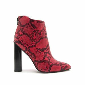 Bootie Red and Black Size 6