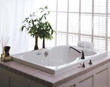 """JACUZZI White 60"""" x 42"""" Mito Drop In Comfort Pure Air Bathtub Center Drain NEW"""