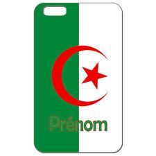 Coque 3 D Téléphone Personnalisée - Iphone 6 - Carte Algérie drapeau algérien