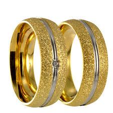 2 Edelstahl bicolor gold / silber Partnerringe Eheringe Trauringe + Gravur 40162
