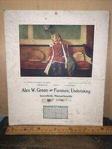 1905 -Calendar- Furniture & Undertaking Greenfield, Massachusetts.Alex Green