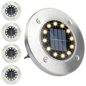 LED Solarlampe Solarleuchte Bodenstrahler Bodeneinbau 8Leds Außen Gartenstrahler