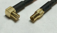 MCX Male Angle to MMCX Female Straight RFC100 2 Inch jumper pigtail cable USA