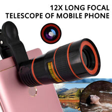 12x Optical Zoom Clip on Camera Lens Phone Telescope For Universal Cell Phone