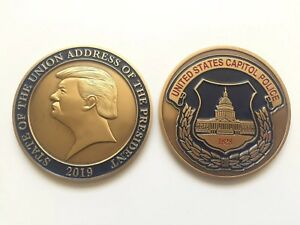 2019 President Donald Trump State of the Union US Capitol Police Challenge Coin
