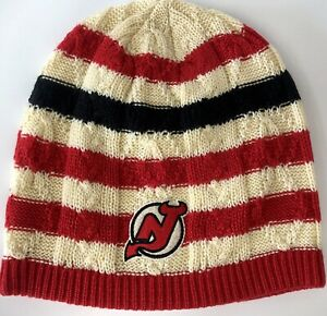 New Jersey Devils Beanie Cap Hat Official NHL Hockey NWT OSFA