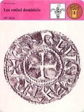 FICHE CARD les Missi Dominici IXe Dernier d'Argent sous Charlemagne France 90s