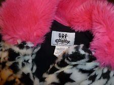 Corky & Company Girl's 6X  Jacket Coat  hot pink / houndstooth   SWING COAT