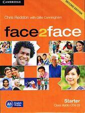 CAMBRIDGE Face2face Starter SECOND EDITION Class Audio CD's (3) A1 I Redston NEW
