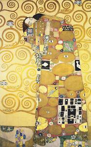 GUSTAV KLIMT tree of  life kiss  art Vintage painting EUROPE Print  90cm poster
