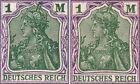 """DR, INFLA, Mi.Nr. 150, 2 Mittelstück-Farben """"a und b"""" wie Mi.Nr. 143, postfrisch"""