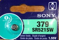 Sony 379 SR521SW Battery Best By 03/21 Free Ship from USA. Authorized Seller.