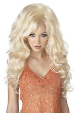 Adult Long Blonde Wavy Bombshell Dolly Parton Costume Wig