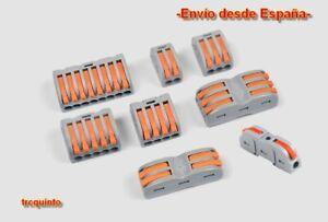 Bloque conector inserción rápida, fichas sin tornillo (De 1 a 8 hilos) electrico