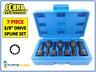 """Cobra 7pc Spline Socket Bit Set 3/8"""" Drive M5 M6 M7 M8 M10 M12 M14 12 Point 3110"""