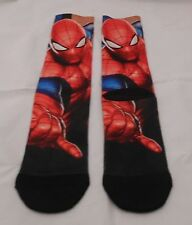 MARVEL COMICS SPIDERMAN FIGURE IN ACTION SUBLIMATION CREW SOCKS
