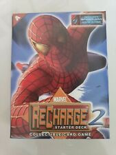 MARVEL RECHARGE 2 STARTER DECK COLLECTIBLE CARD GAME SPIDER-MAN 2002 NEW!