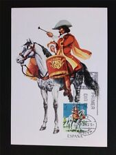 SPAIN MK 1974 SOLDAT REITER PFERD HORSE SOLDIER CARTE MAXIMUM CARD MC CM c5410