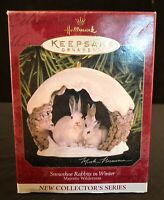 Hallmark Ornament 1997 Majestic Wilderness-1st-Snowshoe Rabbits In Winter