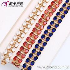 18k Yellow Gold Filled Ruby Fashion Women's Bracelet - 19cm