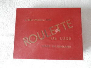 Vintage ROULETTE De Luxe A Bell Production Made in England