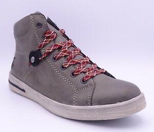 Rieker L3139-45 Women's Grey Green Fleece Lined Ankle Boots Size UK 8 EUR 42