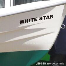 Folienschrift Aufkleber Boot Beschriftung 40cm länge einzeilig Bootsbeschriftung