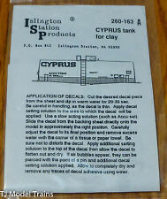 Islington Station Prodcuts #260-163A Cyprus ACFX for: Tank Car (Decal)
