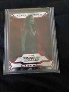 2021 Upper Deck Marvel Black Diamond Zoe Saldana Gamora Red Parallel 29/35 #30