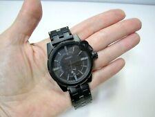 L@@K Diesel Advance Analog Black Stainless Steel Men's Watch DZ4235 ~ 7.75 in