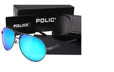 Police Sunglasses BLUE Lense Unisex polarizing glasses with Police Case