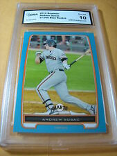 ANDREW SUSAC GIANTS 2012 BOWMAN BLUE ROOKIE RC # 27/500 GRADED 10