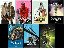 Saga GRAPHIC NOVEL Series Collection Set Books 1-7 Paperback By Brian K. Vaughan