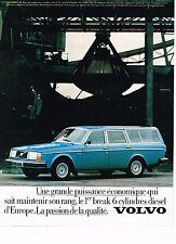 PUBLICITE ADVERTISING 044   1979   VOLVO   break 6 Cylindres Diesel