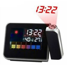 New Digital Weather Projection Snooze Alarm Clock Color Display LED Backlight