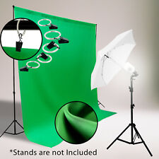 5 x 7 ft. Green Color Chromakey Muslin Backdrop Photography studio lighting kit