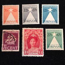 1923-36 Surinam Postage Stamps, Used, Unused, Lot of
