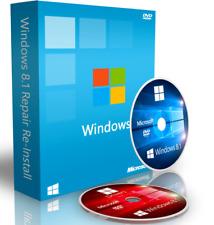 Windows 8 / 8.1 Repair Reinstall Recovery DVD Boot Disc + Driver DVD 64 Bit