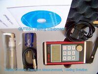 "Ultrasonic Thickness Gauge Menu Screen Dual Resolution .01/.001"" Al Box Software"