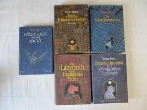 """Zamonien 4 Bücher der Serie und """"Wilde Reise durch die Nacht"""" Walter Moers"""