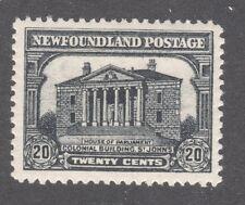 NEWFOUNDLAND STAMP #171    -- 20c  BUILDING -- RE-ENGRAVED -- 1931 - UNUSED