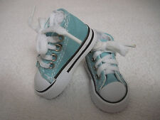 """Fits 16"""" Sasha or Gregor Doll - Sea Blue High Top Sneakers - Shoes - D1298"""