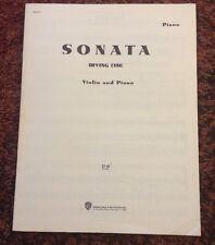Irving Fine Sonata for Violin and Piano (Sheet Music)