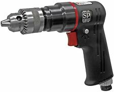 "3/8"" Reversible Air Drill One hand Operated SP 7525 2000 rpm Made in Japan"
