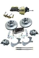 1957-1968 Ford Full Size & Galaxie Front Power Disc Brake Conversion Kit & Valve