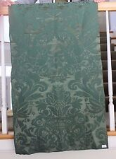 "Antique French Victorian Silk Green Panel Home Dec Fabric c1880~1yd 4""L X 25""W"
