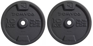 Domyos 2 x 10kg Cast Iron Weight Plates [20kg Total] Brand New Speedy Delivery]'