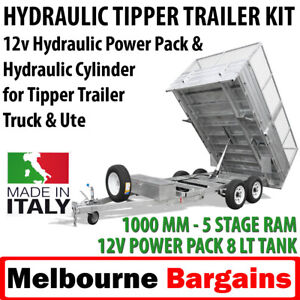 Tipper Trailer kit -Hydraulic Ram Cylinder and Power Pack - 1000mm - 5 tonne